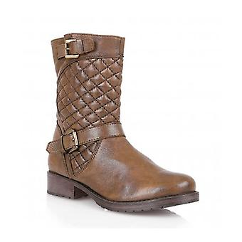 Lotus Conroe Ladies Pelle Quilted Mid-vitello Boots Tan
