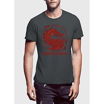 Mortal kombat logotyp halv ärm t-shirt