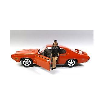 Modèle de voiture Sue Figure pour 1:24 Scale Diecast Modèles de voiture par Diorama américain