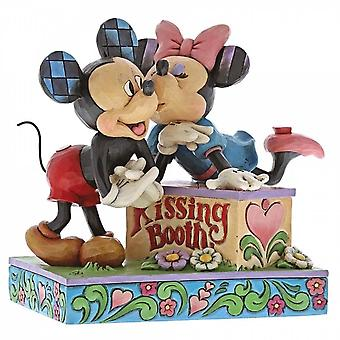 Disney Traditions Kissing Booth Mickey And Minnie Mouse Figurine