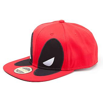 Deadpool  Baseball Cap Big Face new Official Marvel Red Snapback