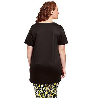 Rösch 1204604-11741 Women's Curve Jet Black Loungewear Top