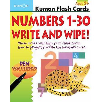 Numbers 130 Write  Wipe Flash Cards by Kumon
