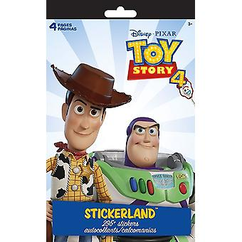 Stickerland Pad 4 pages - Disney - Toy Story 4 Stationery New st3122