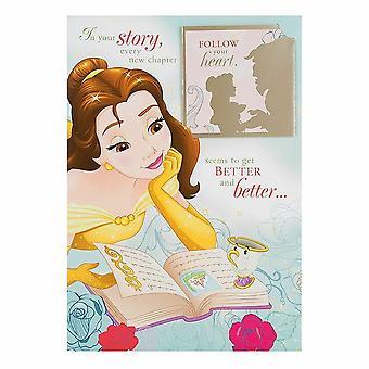 Hallmark Beauty And The Beast Keepsake Livre Carte d'anniversaire 25482745