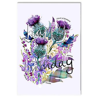 Embroidered Originals Happy Birthday - Scottish Flowers