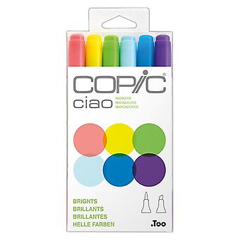 Copic Ciao Markers Brights Set of 6 Colours