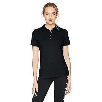 Starter Women's Standard Short Sleeve Performance Pique Polo, Black, X-Large