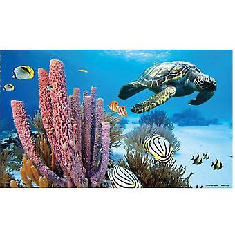 Sandimas Poster Aquarius 3D Marine Background (Fish , Decoration , Backgrounds)