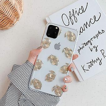 Mobile shell for iPhone XR with lemons in gold 3D