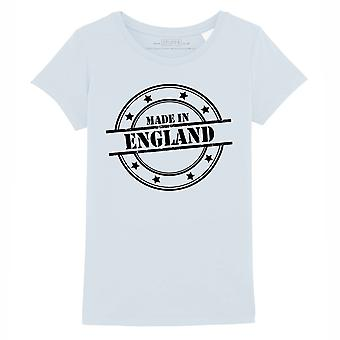 STUFF4 Girl's Round Neck T-Shirt/Made In England/Baby Blue