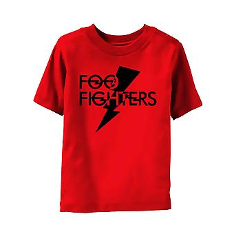Foo Fighters Kids T Shirt Classic Band Logo new Official Red Ages 3- 24 Months