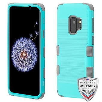 MyBat TUFF Hybrid Protector Case for Galaxy S9 - Teal Green Brushed/Iron Gray