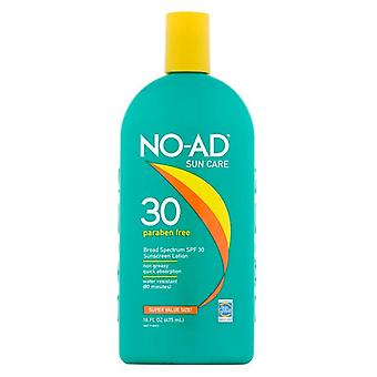 No-ad sunscreen lotion, water resistant, spf 30, 16 oz