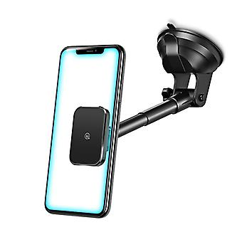 Usams magnetic long arm dashboard windshield air vent car phone holder car mount 4.7-7.0 inch smart phone for iphone 11 for samsung galaxy s20 xiaomi