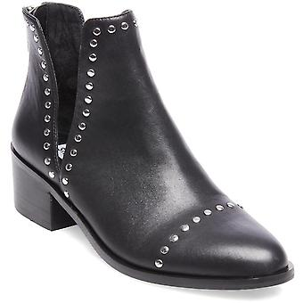 Steve Madden Womens Conspire Slip On Leather Ankle Boots