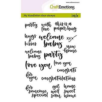 Craftemotions Clear Stamps A6 - Handwritten - Card Moments (Eng) By Carla Kamphuis