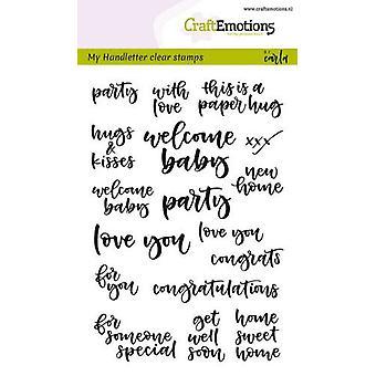 Craftemotions Clear Stamps A6 - Scritto a mano - Momenti di carte (Eng) di Carla Kamphuis