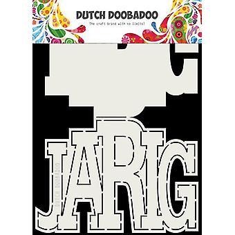 Néerlandais Doobadoo Card art Jarig (NL) A5 470.713.731