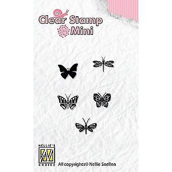نيلي & أبوس؛s اختيار ميني الطوابع واضحة الفراشات MAFS001 92x41mm