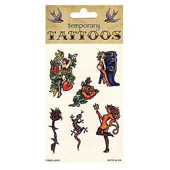 Bristol Novelty Lady Theme Temporary Tattoos