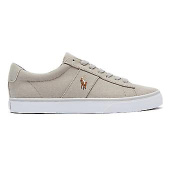 Ralph Lauren Sayer Canvas Mens Soft Grey Trainers