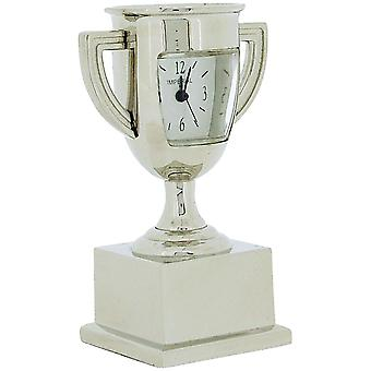 Miniature Silver Tone Metal Trophy Winners Cup Novelty Collectors Clock IMP1049S