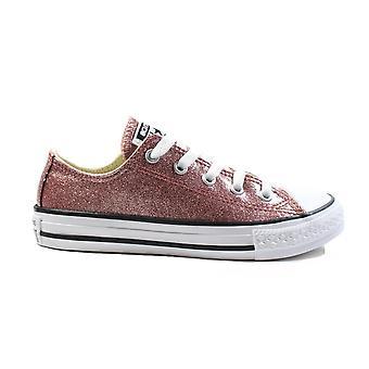 Converse Chuck Taylor All Star Ox 66045C Rose Gold Glitter Girls Lace Up Schoenen