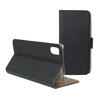 Folio mobiltelefon fall Iphone X KSIX plånbok svart