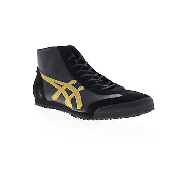 Onitsuka Tiger Mexico Mid Runner Deluxe Mens Black High Top Sneakers Shoes