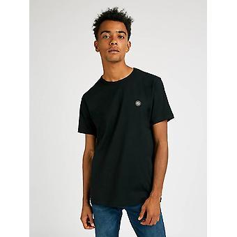 Pretty Green Mens Core Bomull T-shirt - Svart