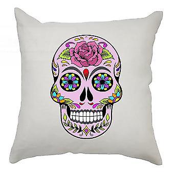 Sugar Skull Cushion Cover 40cm x 40cm Rose