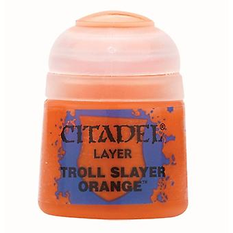 Troll Slayer Orange, Citadel Paint - Layer, Warhammer 40,000/Age of Sigmar