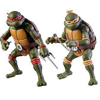 TMNT Michelangelo & Raphael Action Figure 2-Pk