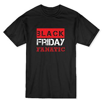 Black Friday Fanatic Men's Black T-shirt