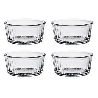 Duralex Set of 4 Clear Ramekins, 8.5cm