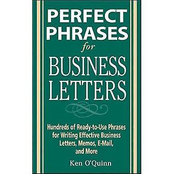 Phrases parfaites pour les lettres d'affaires par Ken O Quinn