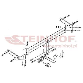 Steinhof Towbar (fixiert 2 Schrauben) für Mazda CX-7 2007-2012