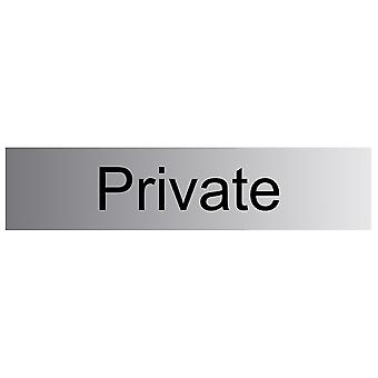 House Nameplate Co Metal Effect Private Sign