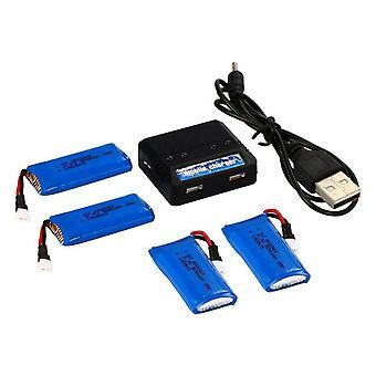 4 pcs 3.7V 500mAh Battery +1pc Charger for Hubsan X4 H107L H107C H107D H107 V252