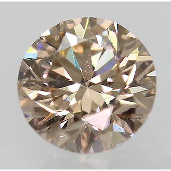 Cert 0,62 karaatin fancy ruskea VVS2 pyöreä loistava luonnollinen löysä timantti 5.31m 3EX
