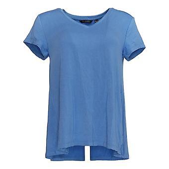Joan Rivers Women's Top Denim Shirt avec Pintuck Detail Blue A366279