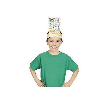 12 Farve dit eget papir Top Hat Kroner for Kids Hat Making Crafts