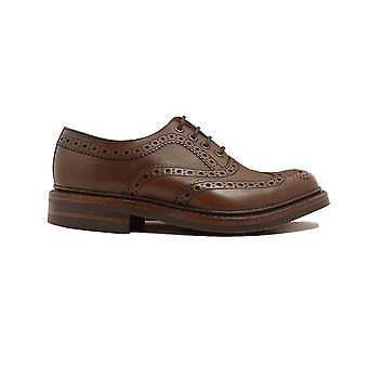 Loake Edward Dark Brown Burnished Calf Leather Mens Oxford Chaussures Oxford