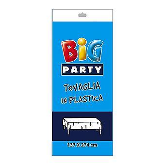 Aqua Blue Plastic Tablecover - 137 x 274cm Decoração de festa