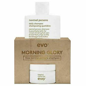Evo Morning Glory Cassius Cadeau Set 100ml Cassius Styling Clay + 300ml normale personen shampoo