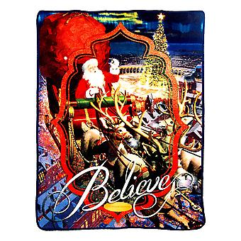 Super Soft Throws - Polar Express - Lets Believe New 45x60