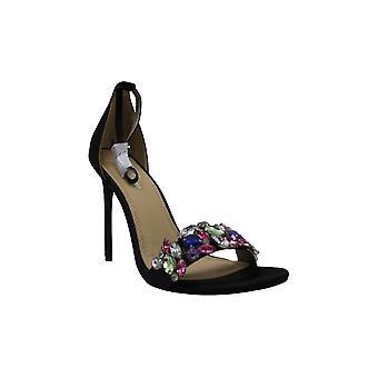 Lauren Lorraine Frauen's Sandalen schwarz - schwarzer Strass Irma Sandale - Frauen