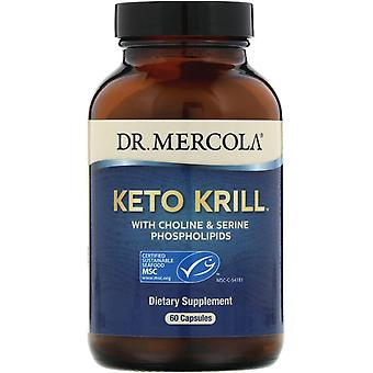 Dr. Mercola, Keto Krill with Choline & Serine Phospholipids, 60 Capsules
