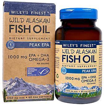 Wiley's Finest, Wild Alaskan Fish Oil, Peak EPA, 1,250 mg, 60 Fish Softgels
